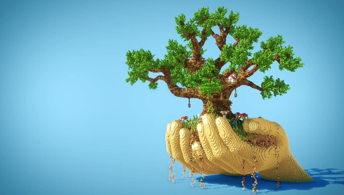 L'opération Minecraft #Plantforlife