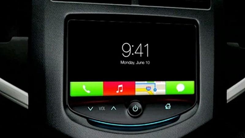 iOS en el automóvil cuando se integró por primera vez en 2014.