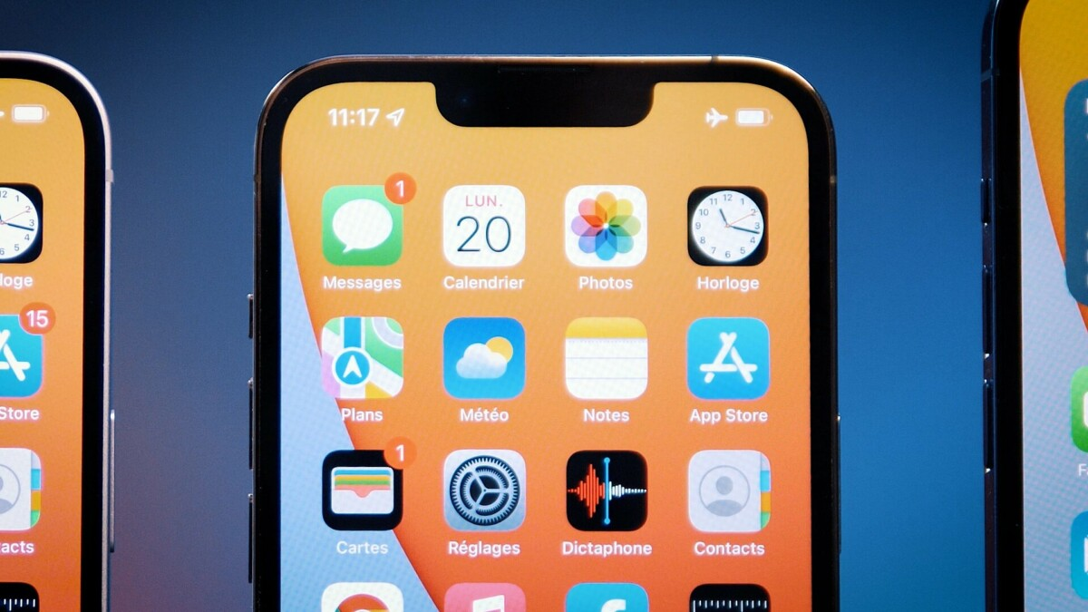 L'encoche de l'iPhone13 Pro