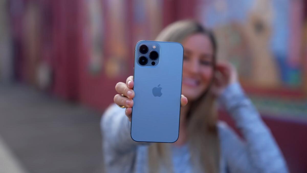 Le nouveau coloris bleu des iPhone 13 Pro