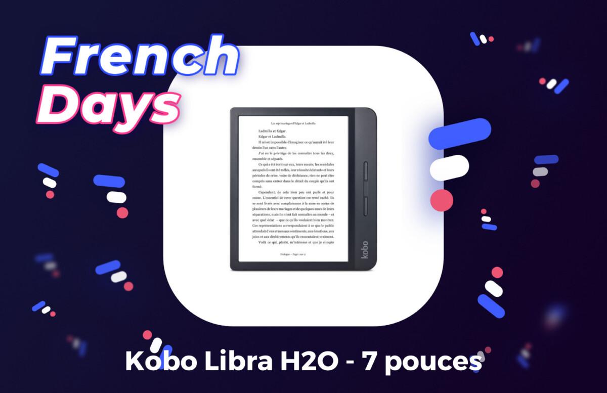 Kobo Libra H2O illustration French Days par Frandroid