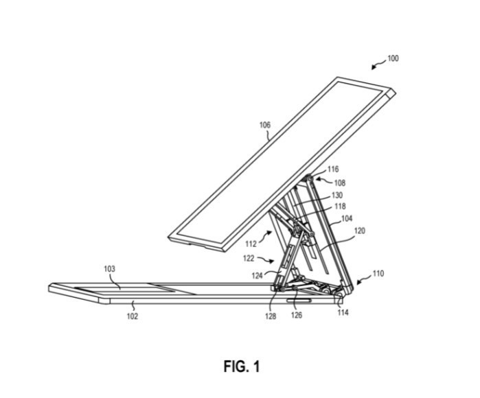 Uno de los bocetos contenidos en la patente original de Surface Book 4.