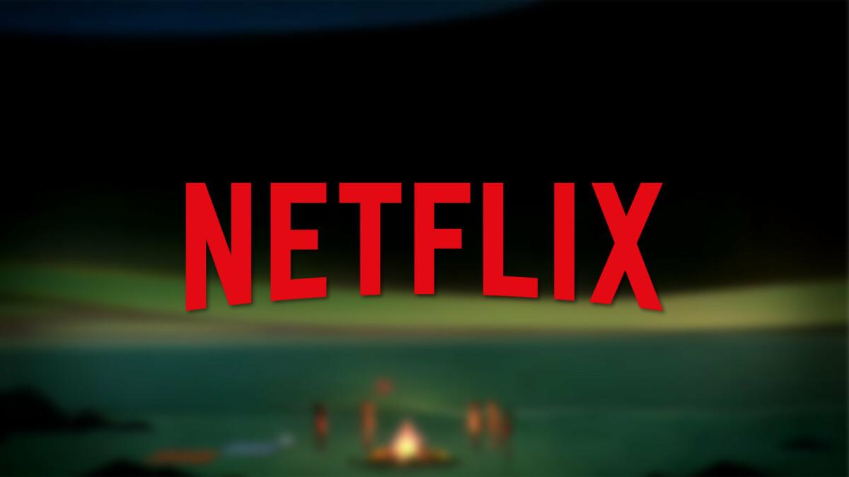 Le logo Netflix par dessus une scène du jeu Oxenfree