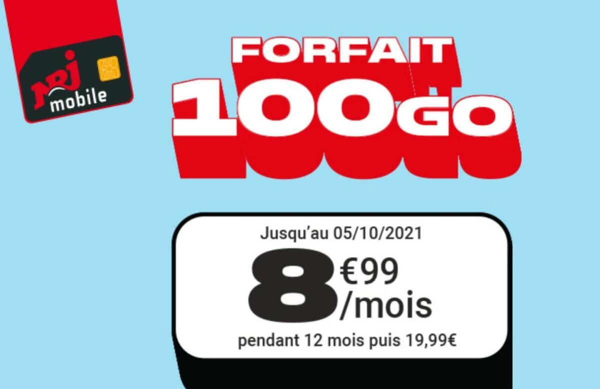 Voici un forfait mobile très avantageux : 100 Go pour moins de 9 €/mois