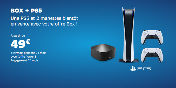 PS5 : SFR relance son offre PlayStation 5 + box internet pour les French Days