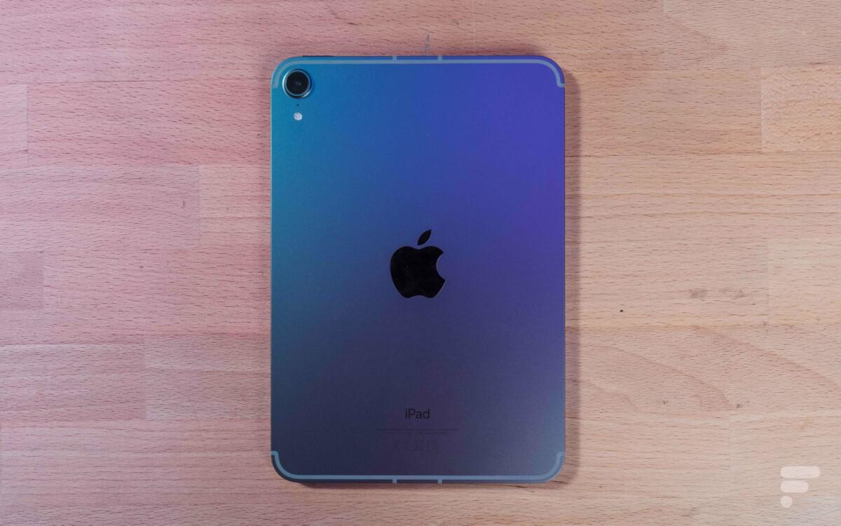 Un seul capteur photo au dos de l'iPad mini6
