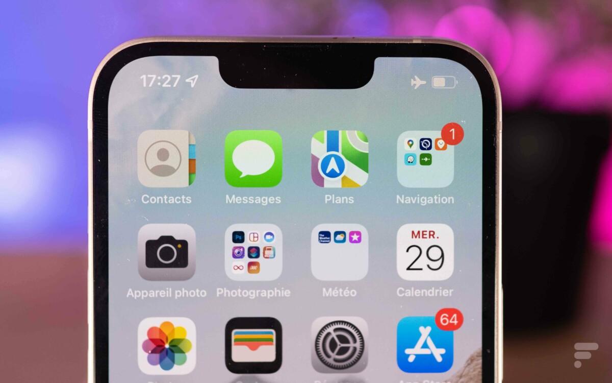 L'encoche de l'iPhone 13 est 20% plus petite