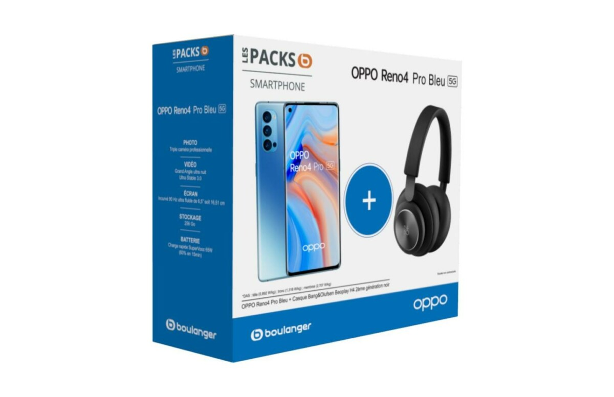 Pack Oppo Reno 4 Pro + B&O Beoplay H4 (2e gen)