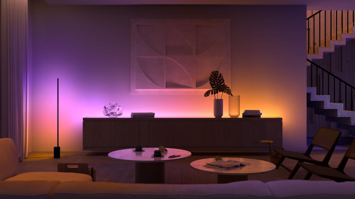Des touches de couleurs modulables et mélangées avec la gamme Philips Hue Gradient Lightstrip et les lampes Signe