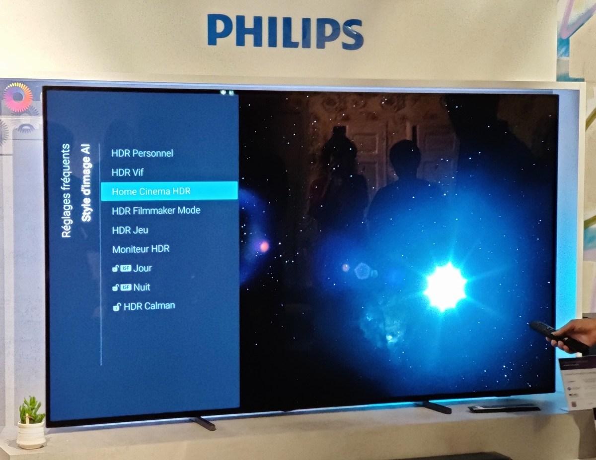 Le nouveau mode introduit par Philips, Home cinéma HDR pour un rendu Cinéma avec une pointe d'optimisation.
