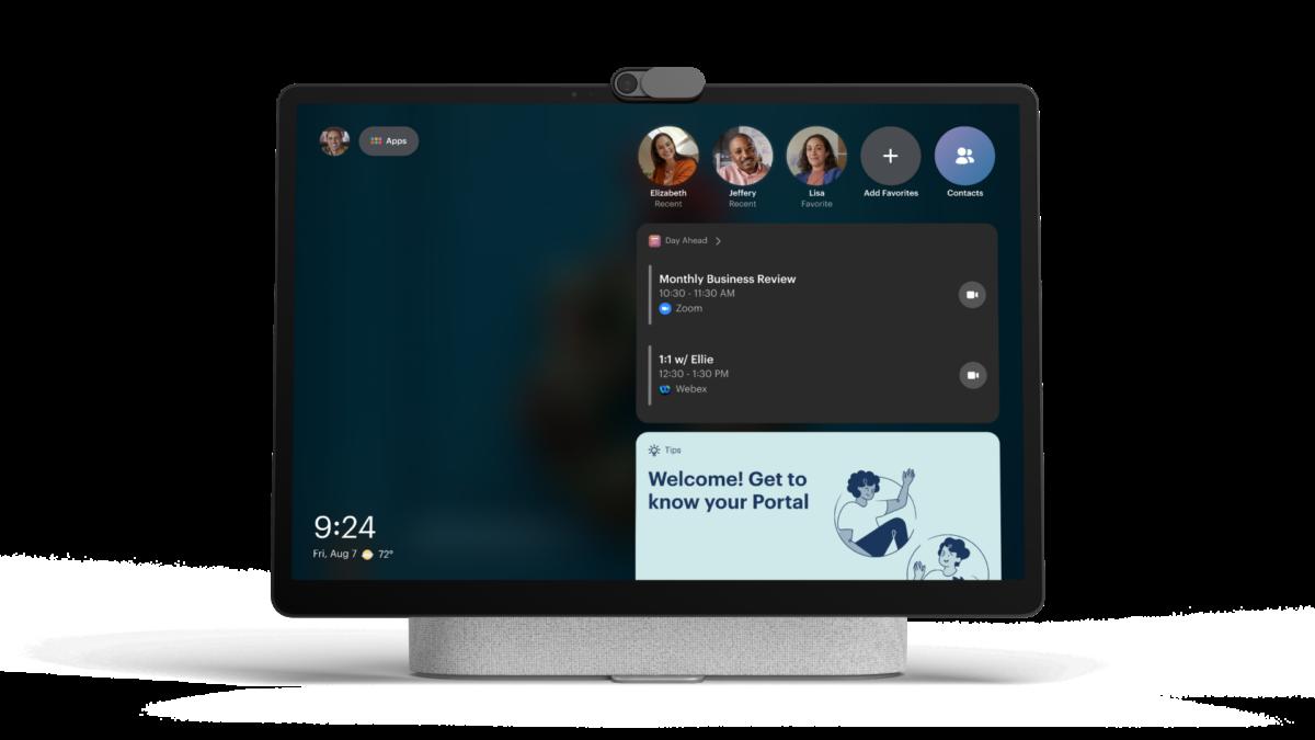 Le nouveau Portal+ affiche vos contacts et votre calendrier