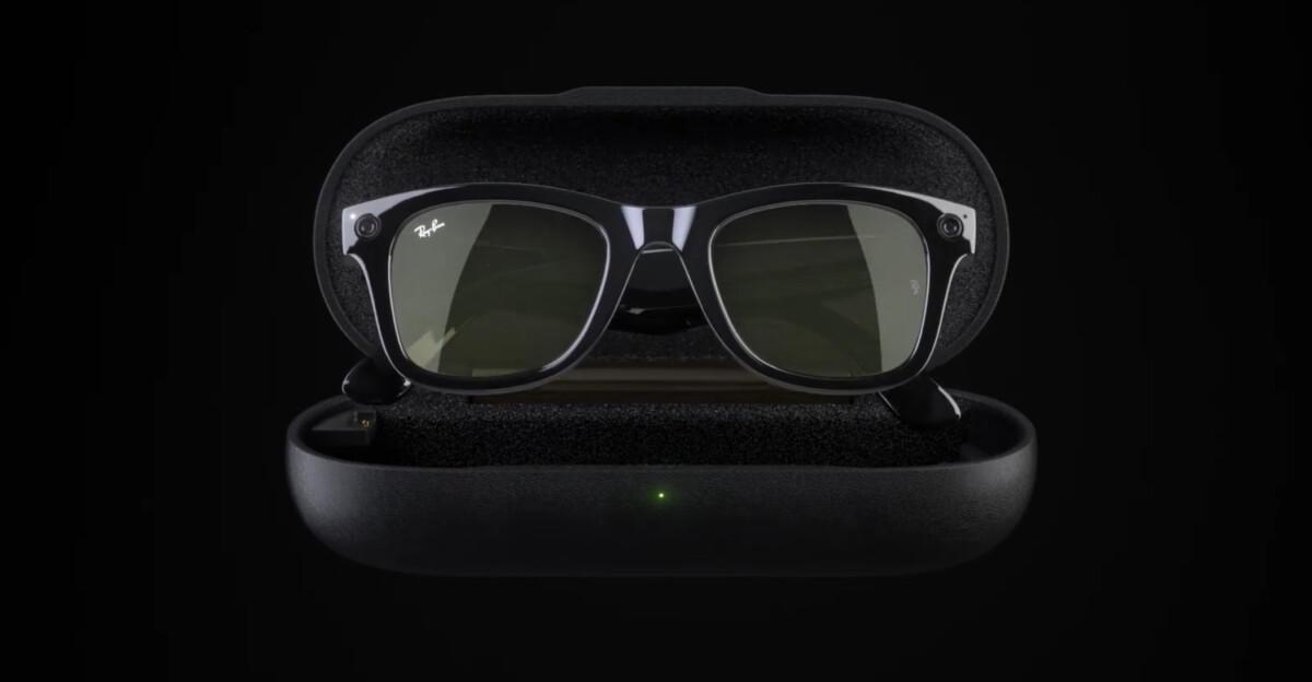 Facebook intègre un boitier qui permet de recharger les lunettes.