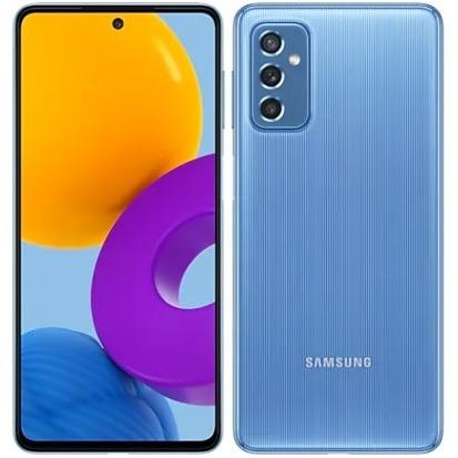 Samsung Galaxy M52 5G en bleu
