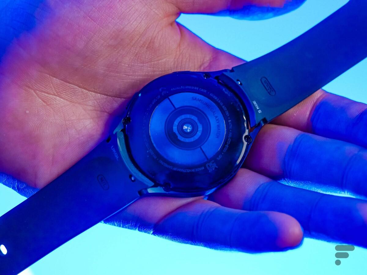 L'arrière de la Samsung Galaxy Watch4.