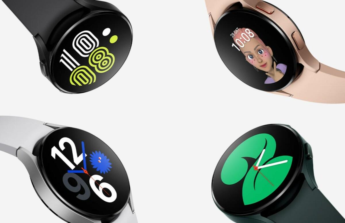 Plusieurs coloris de la Samsung Galaxy Watch 4