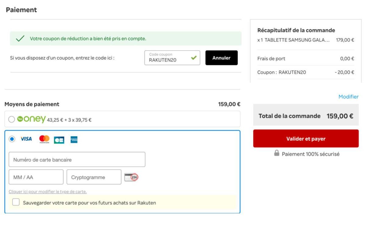 Le prix de la Galaxy Tab A7 Lite passe à 159 € avec le code promo