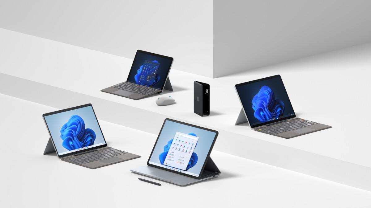 La gamme d'appareils Surface