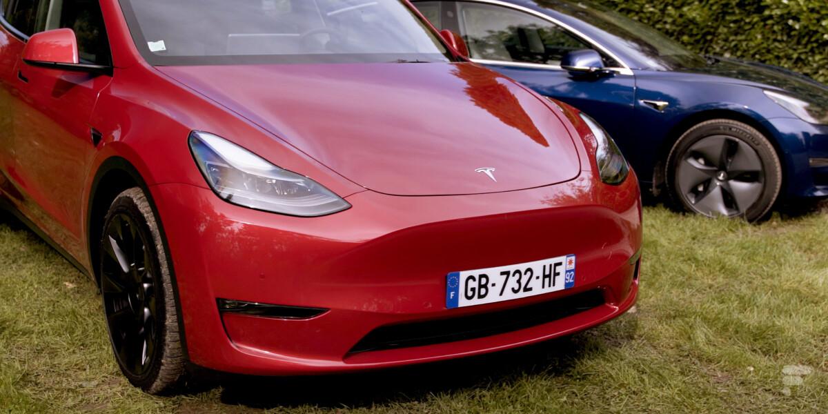 L'avant de la Tesla Model Y