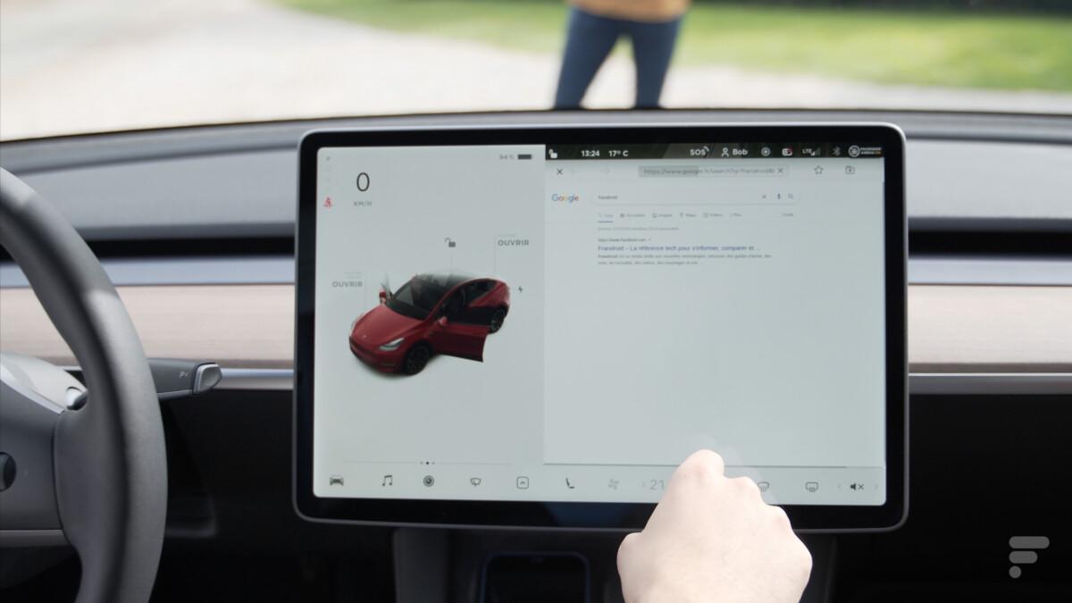 L'écran central de la Tesla Model Y