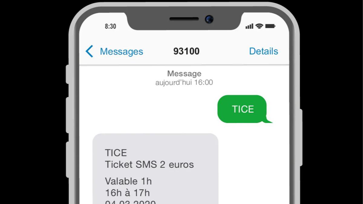 Il est possible depuis 2018 d'acheter un titre de transport via SMS.