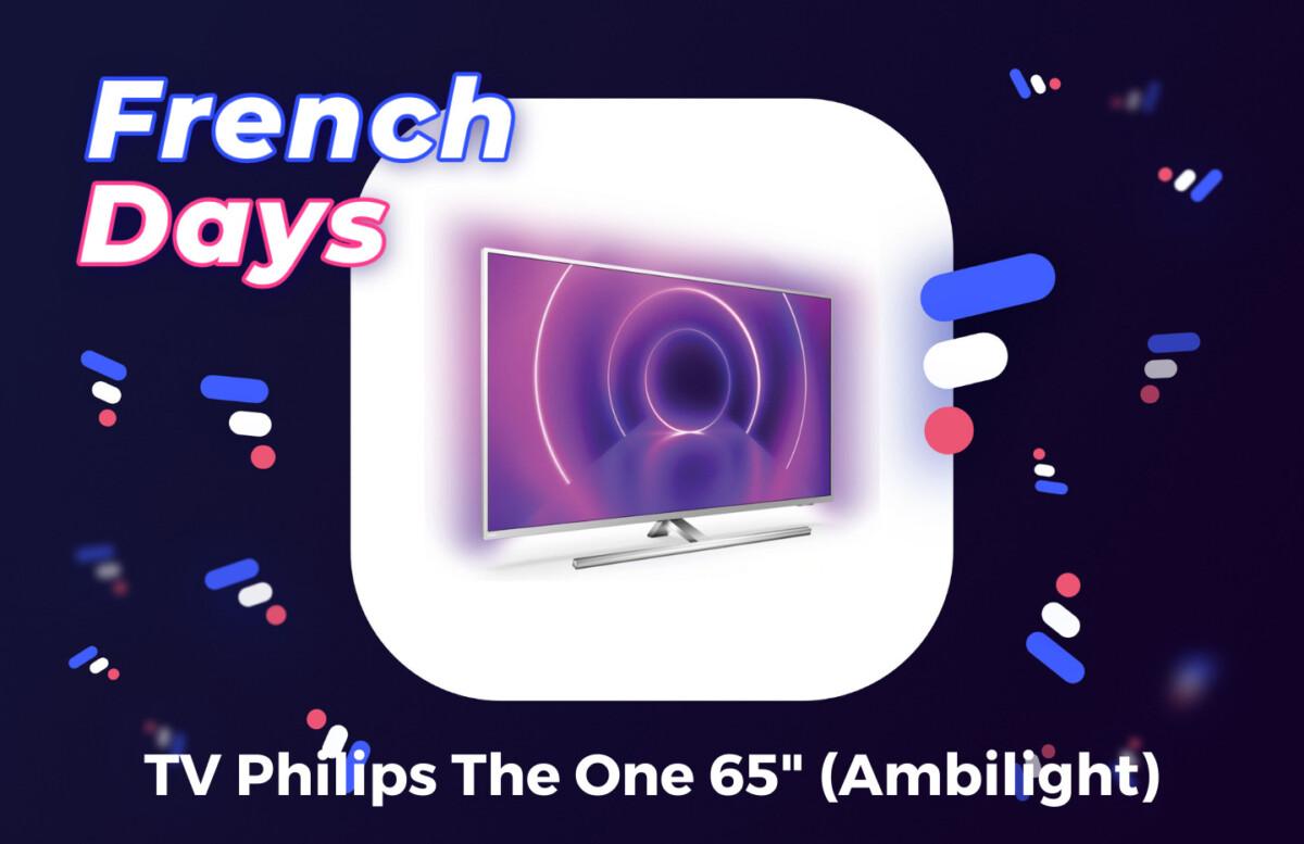 Promotion appliquée sur la TV Philips The One 65 pouces pour les French Days sur Darty