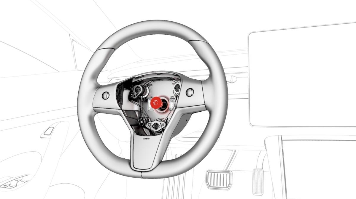 Le démontage du volant de la Tesla Model 3