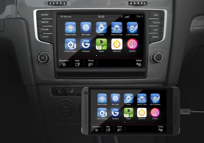 El inicio de Android Auto en 2015.