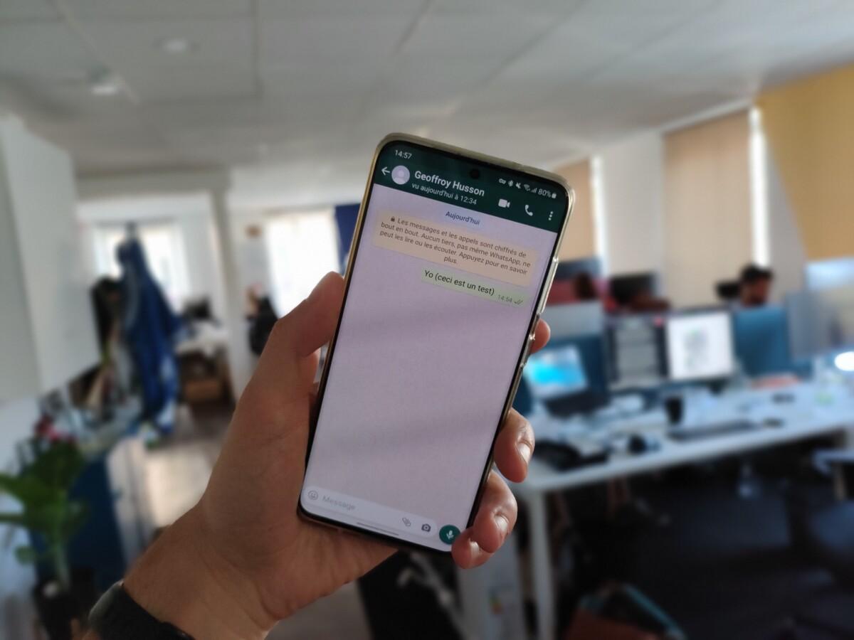 WhatsApp sur un GalaxyS20.
