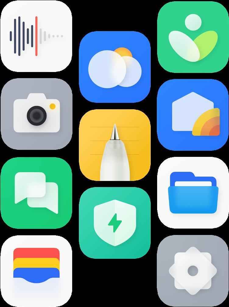 Les nouvelles icônes de ColorOS 12