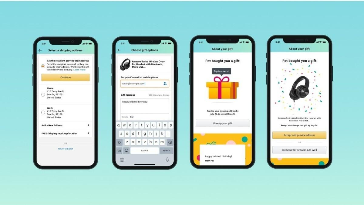 Envoi de cadeau avec Amazon Prime