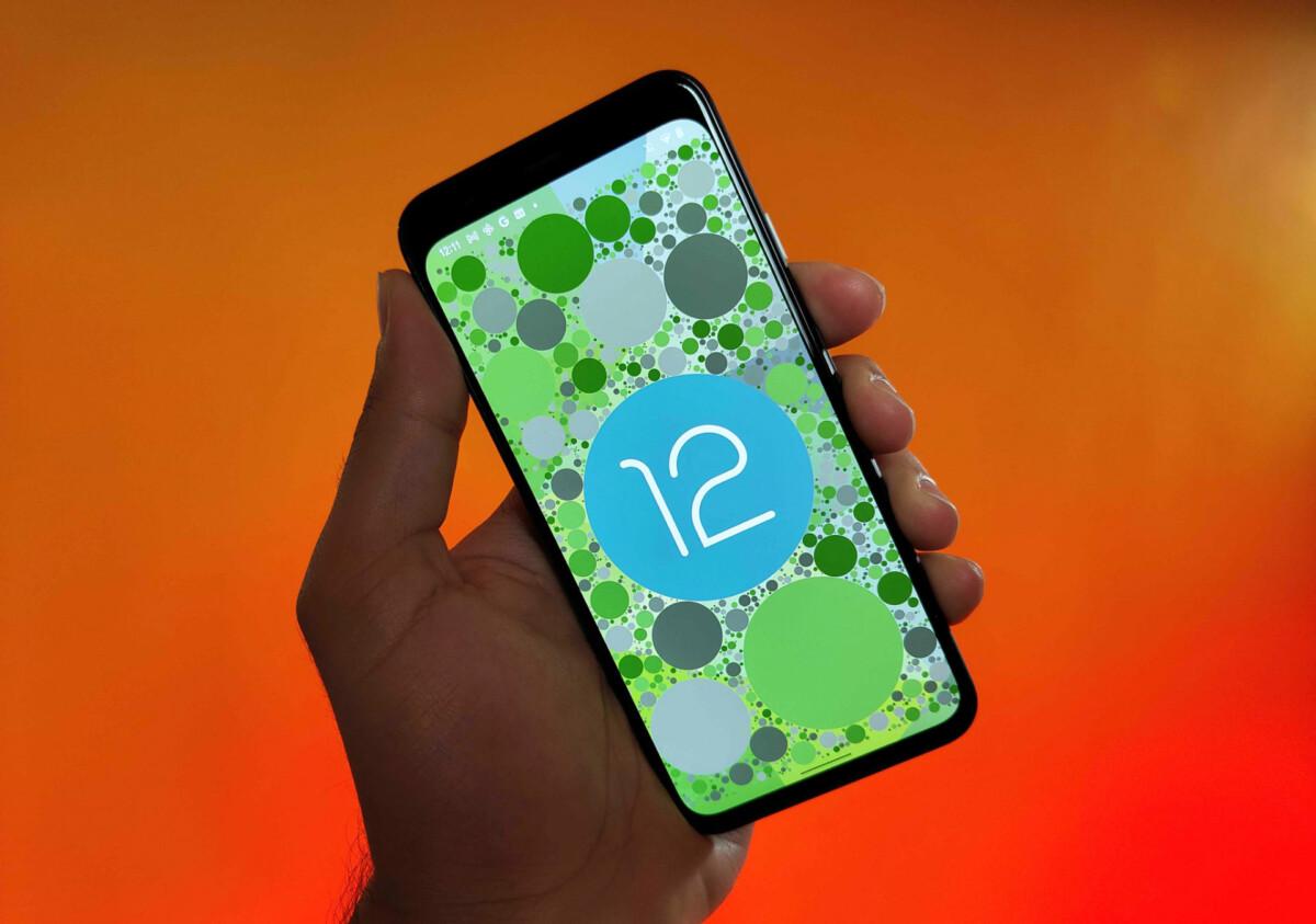 Android 12 sur un Google Pixel 4