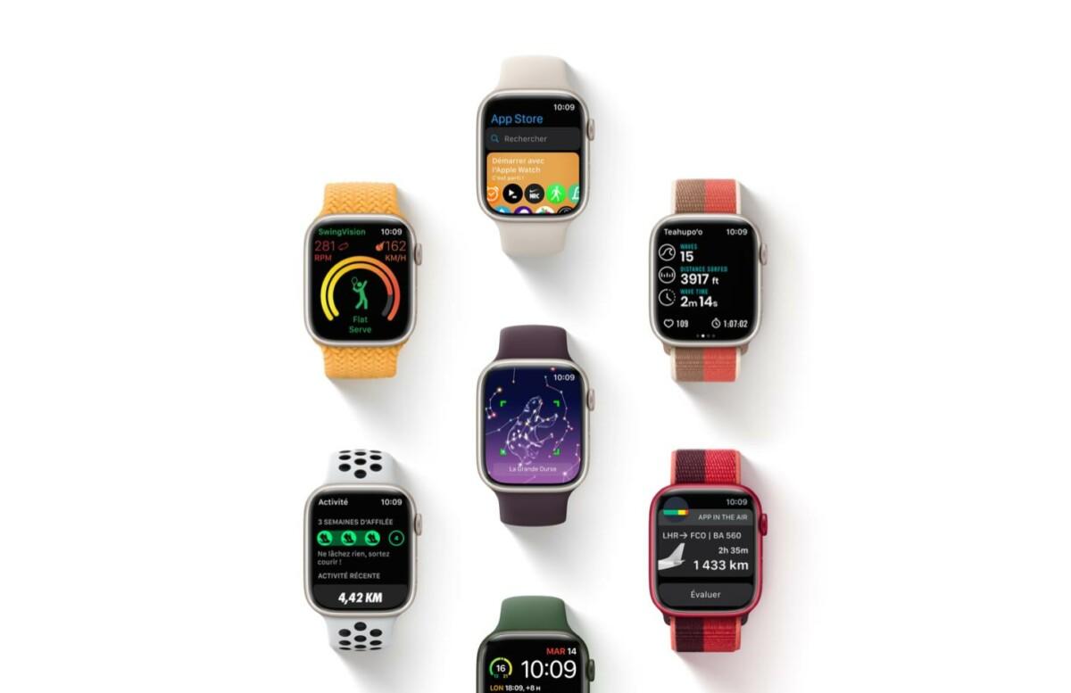 Les différents modèles de l'Apple Watch Series 7