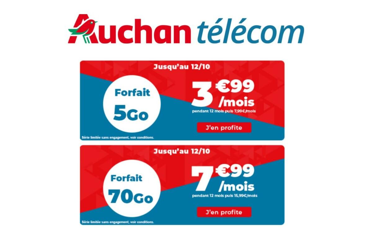 De 5 à 70 Go de forfait 4G : voici deux offres parmi les moins chères du marché