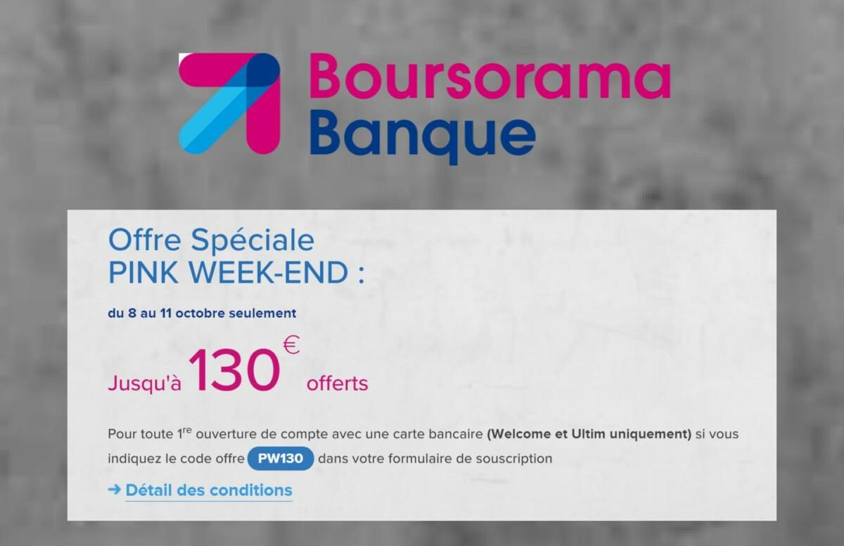Boursorama banque : ouvrir un compte peut vous rapporter jusqu'à 130 €