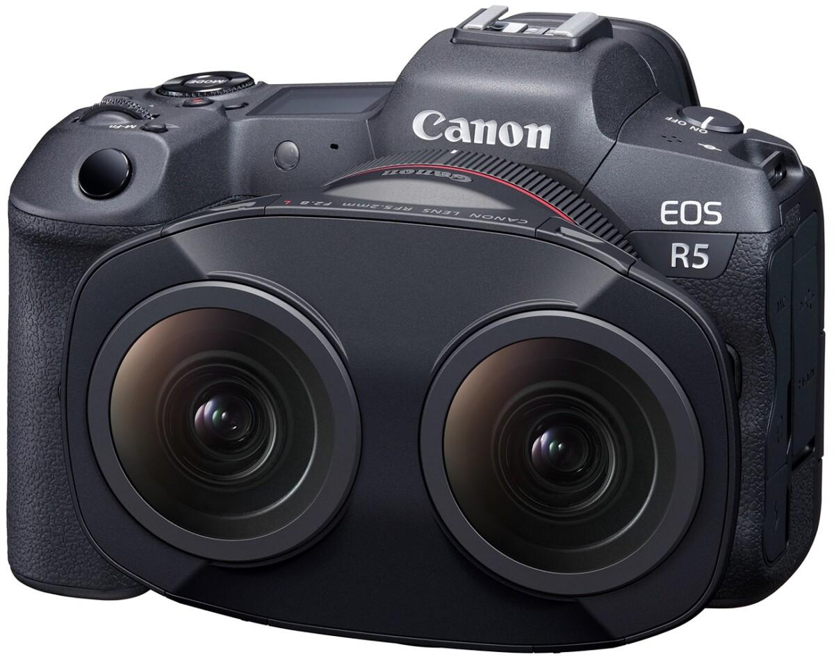 L'objectif 3D de Canon pour son EOS R5