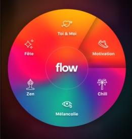 La roue intelligente de Deezer Flow Moods