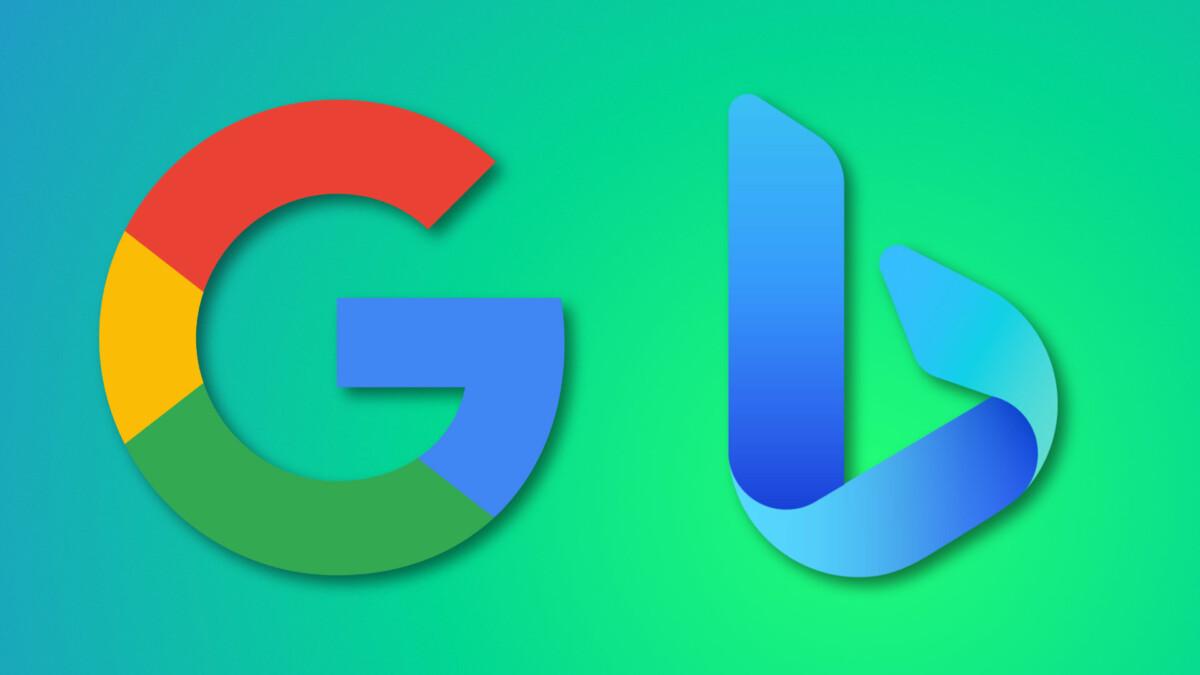 Les logos Google et Bing