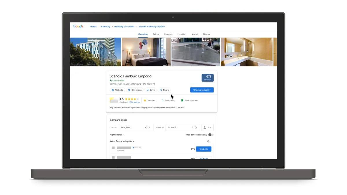 Badge « eco-certified » de Google pour les hôtels