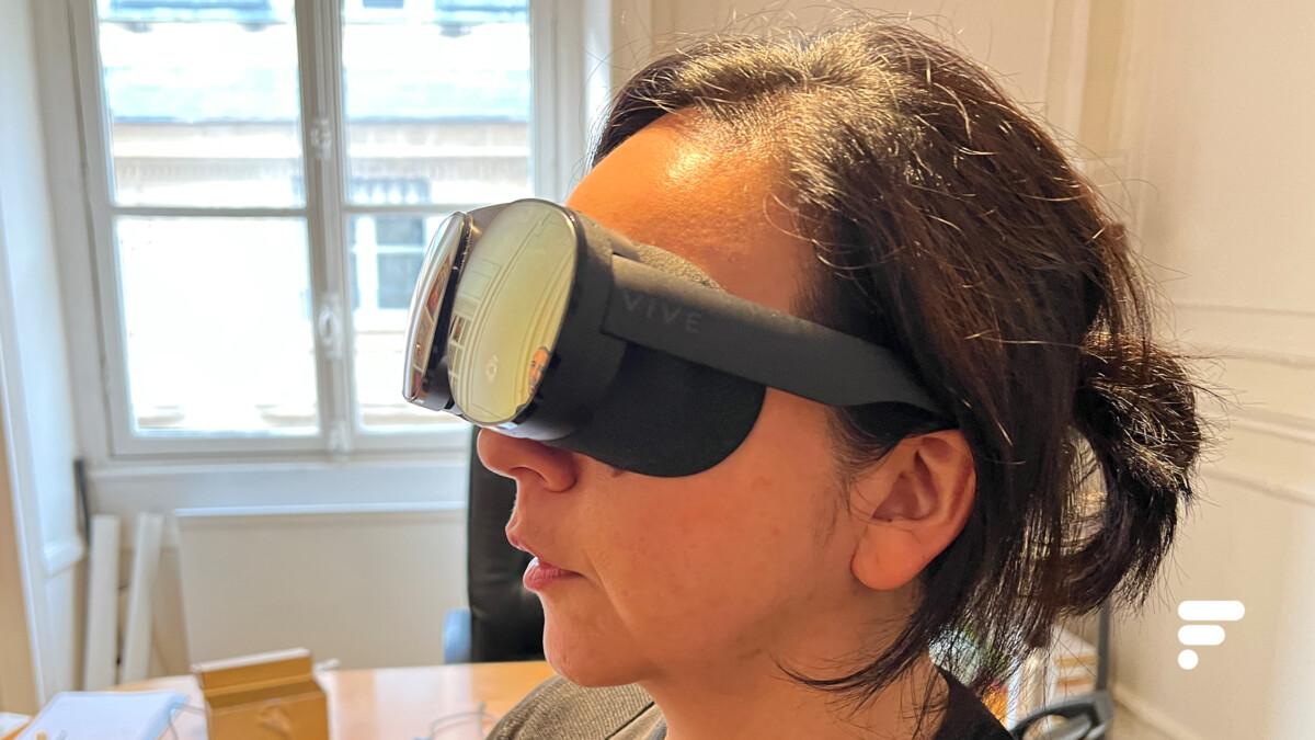 Les HTC Vive Flow sont assez agréables à porter et moins encombrantes qu'un casque de réalité virtuelle