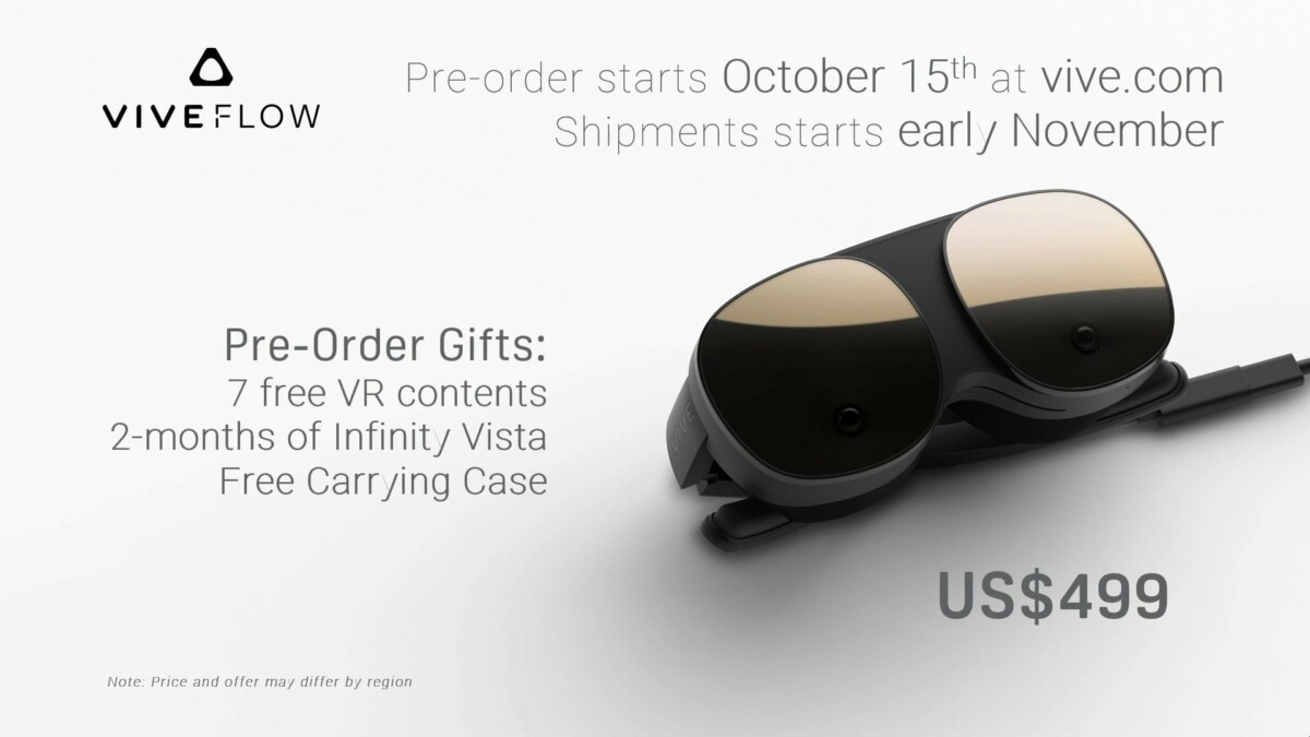 HTC Vive Flow: the first VR glasses with avant-garde design