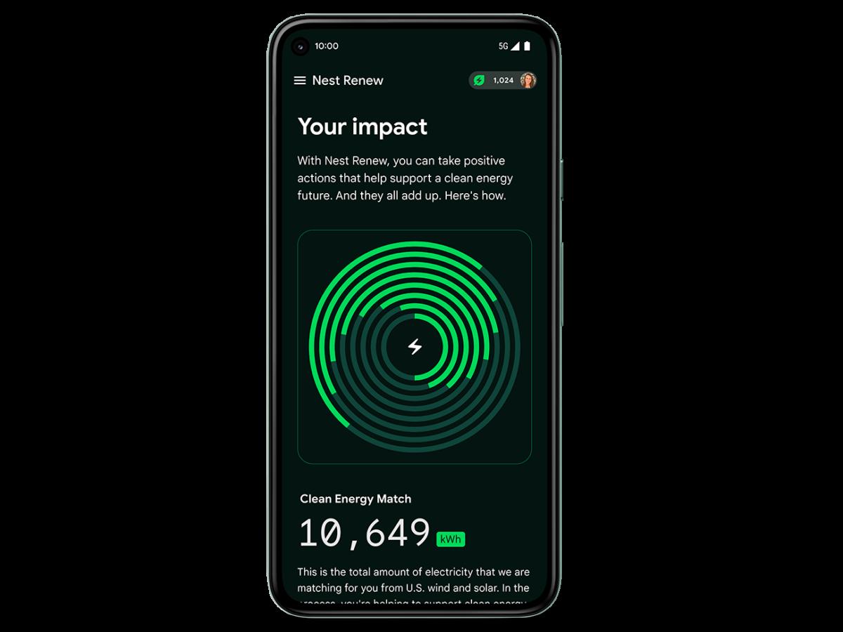 L'utilisateur peut voir l'impact positif de la fonction Power Shift des thermostats Nest
