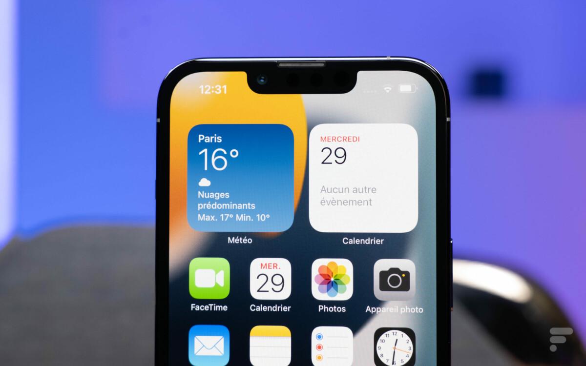 L'interface de l'iPhone 13 Pro