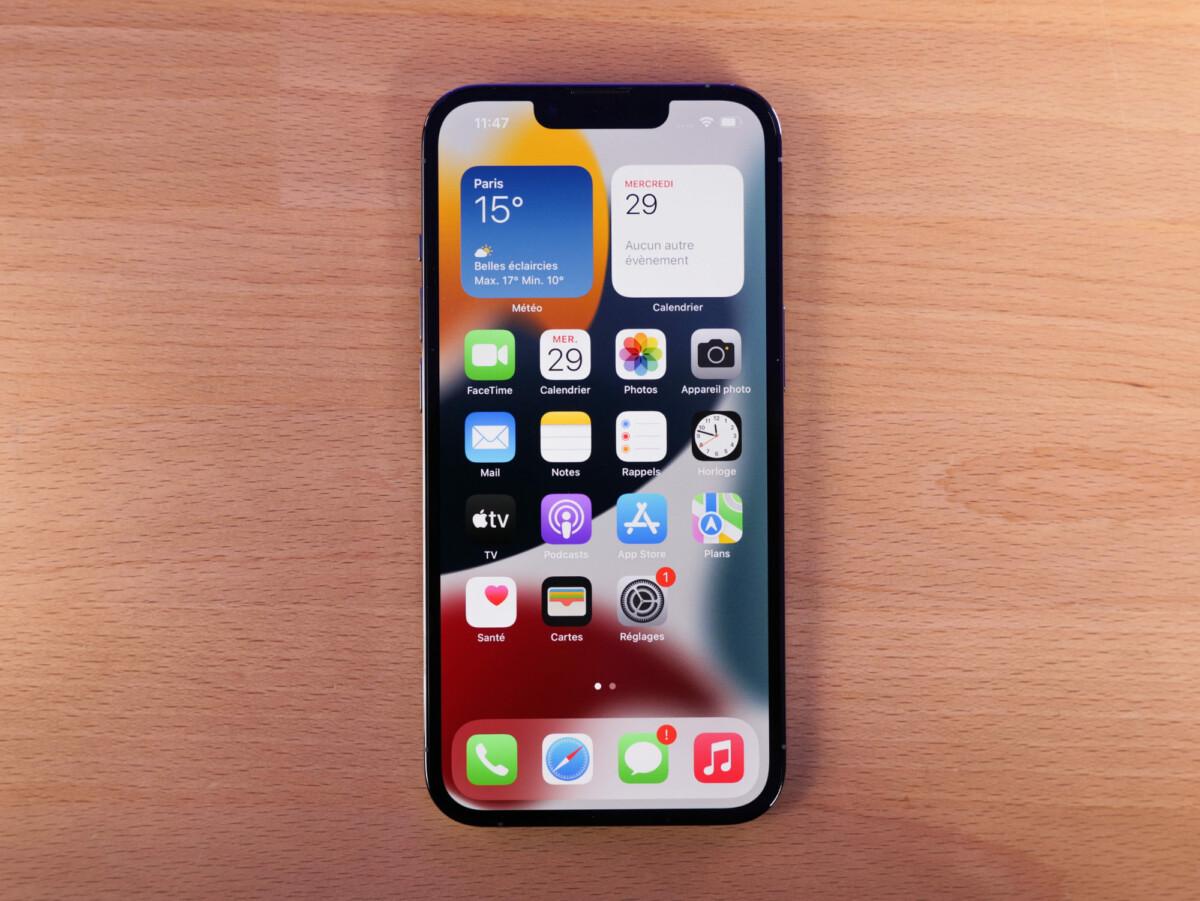 L'écran de l'iPhone 13 Pro
