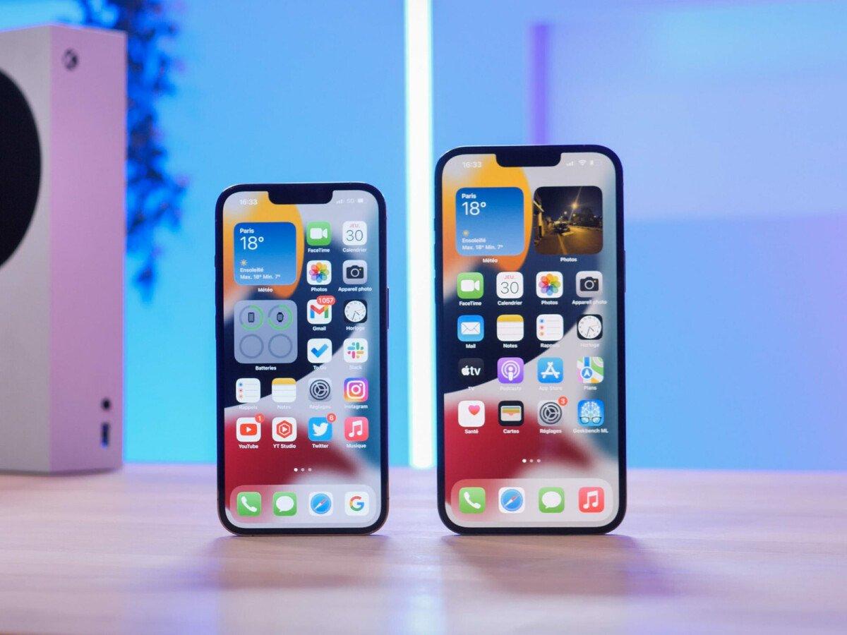 L'encoche des iPhone 13 Pro reste visible