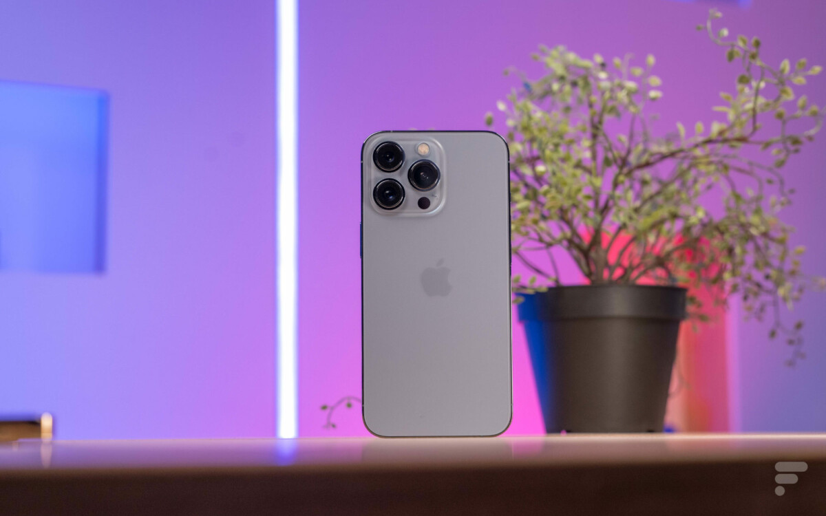 Le dos mat de l'iPhone 13 Pro
