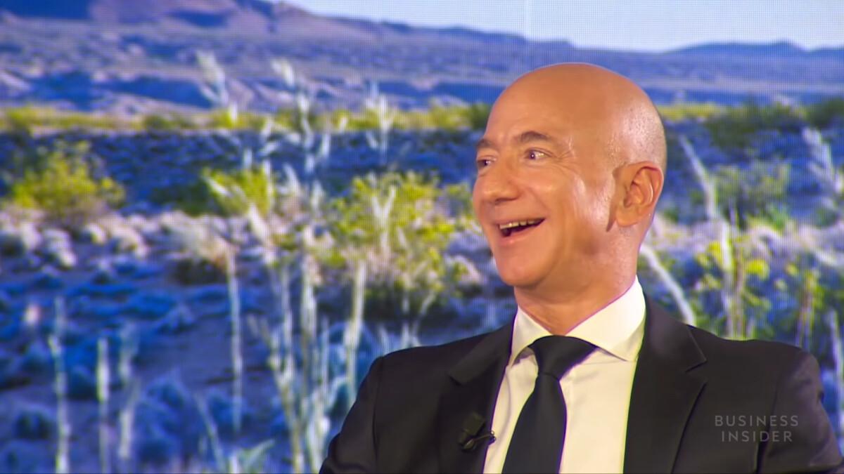 Jeff Bezos lors d'une interview avec Business Insider