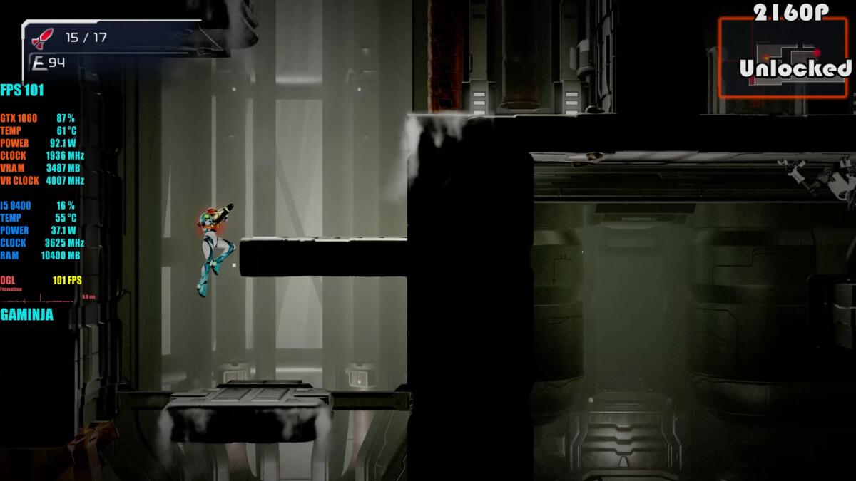 El juego alcanza 101 fps a 2160p usando una tarjeta GTX 1060.
