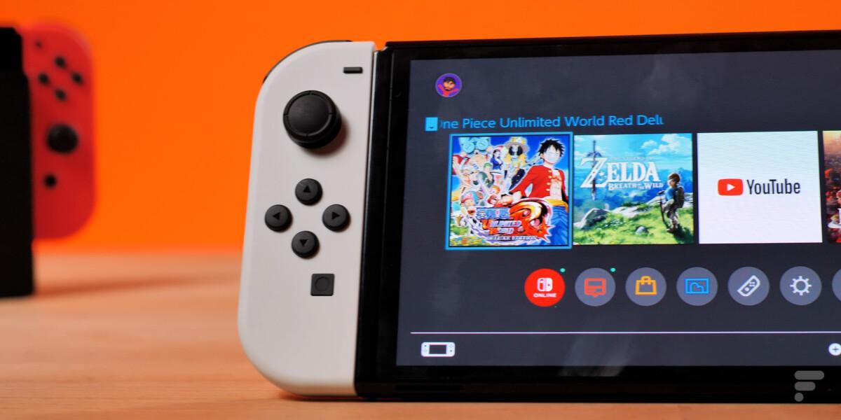 Moitié gauche de la Nintendo Switch OLED