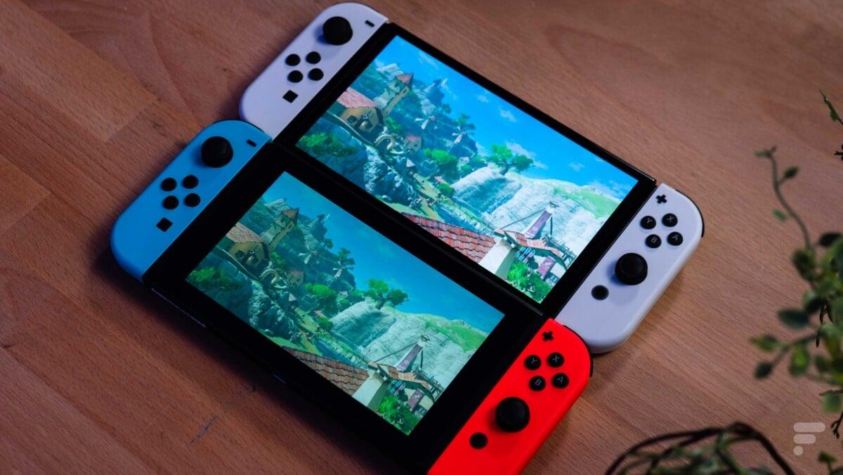 Nintendo Switch OLED vs Switch 2017