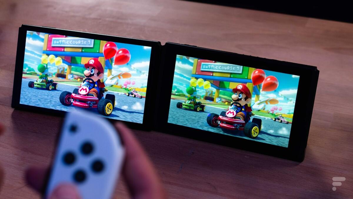 Nintendo Switch OLED compartif écran